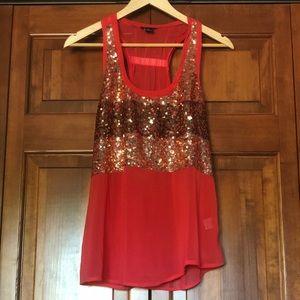 Audrey Ann red/pink gold detail tank